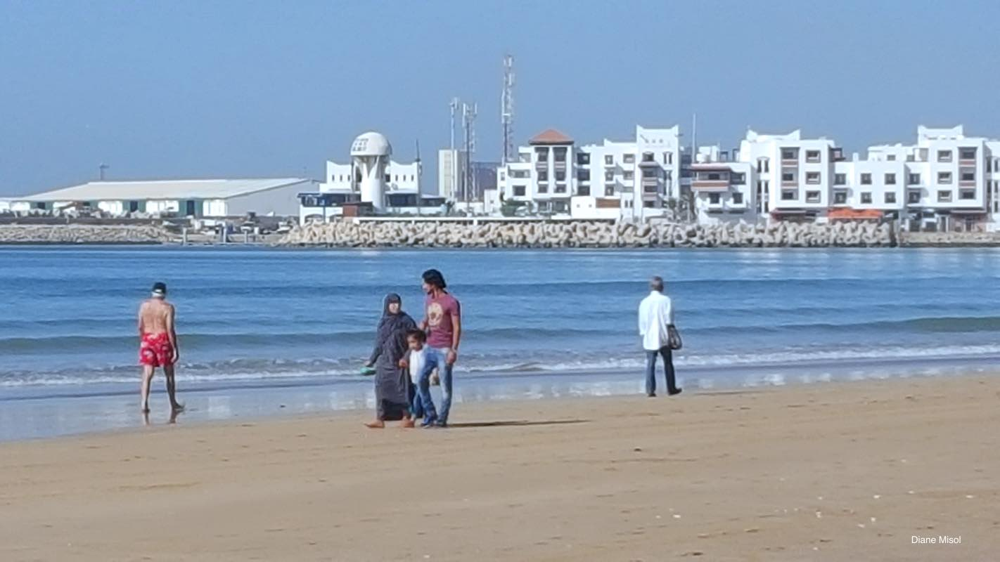 Agadir Beach, enjoyed by locals and tourists