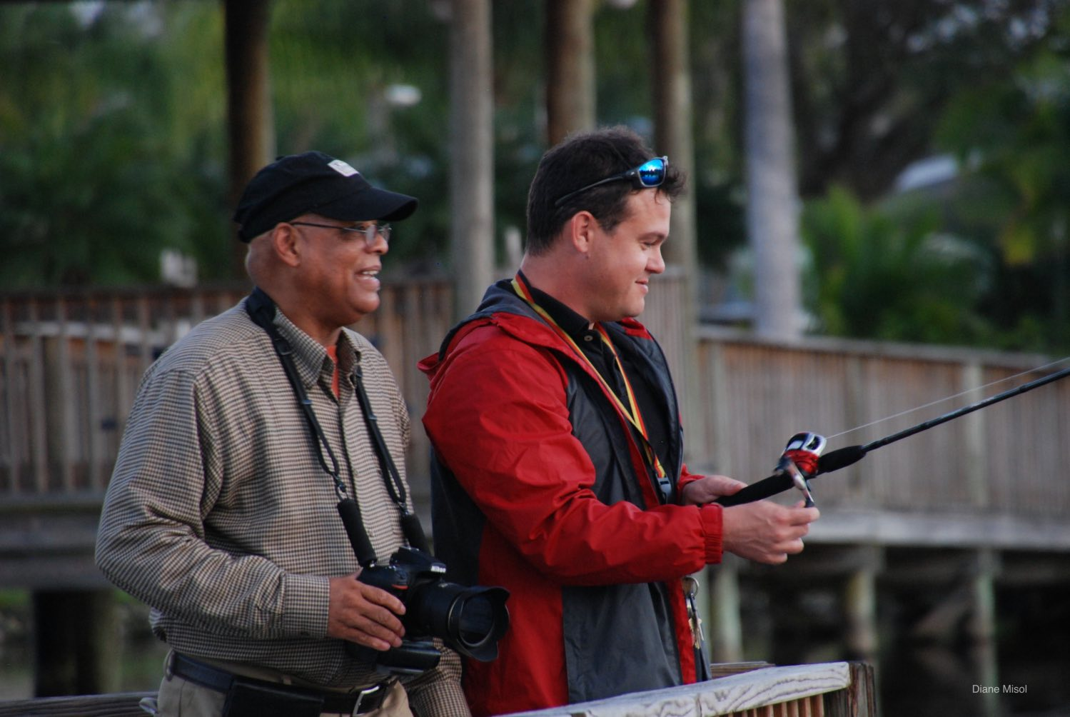 A Fisherman and a Photographer share the views of Lake Okeechobee