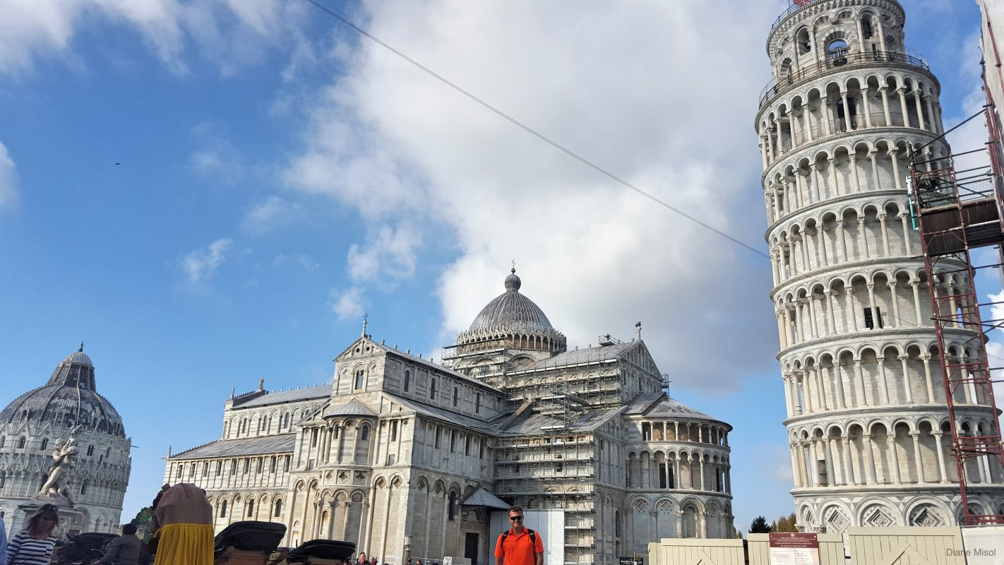 Pisa Baptistry, Pisa Cathedral, and Leaning Tower of Pisa