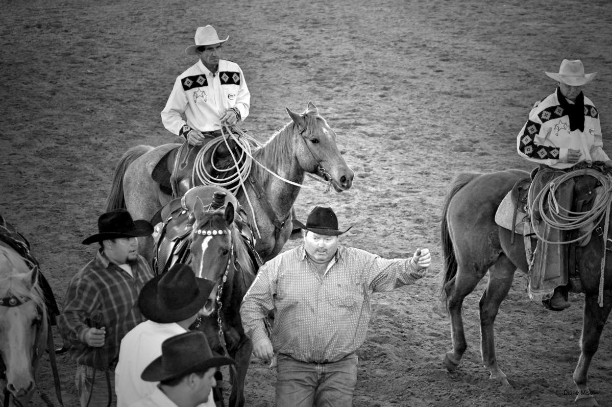 rodeo cowboys black and white