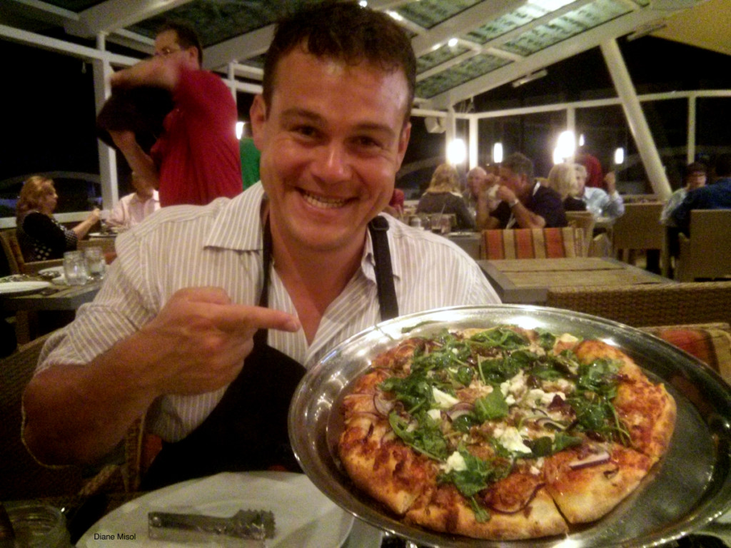 Celebrity Cruise Lawngrill pizza