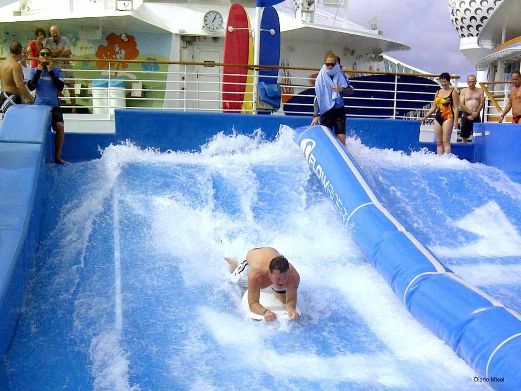 Flow Rider Surfing on Royal Caribbean Cruise Ship