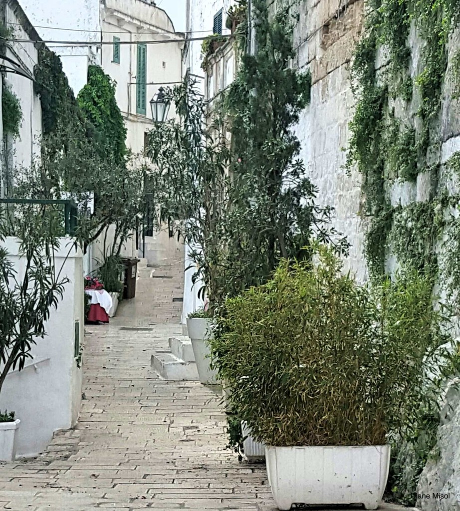 Alley in Ostuni, Italy