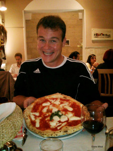 Man with Pizza Margherita