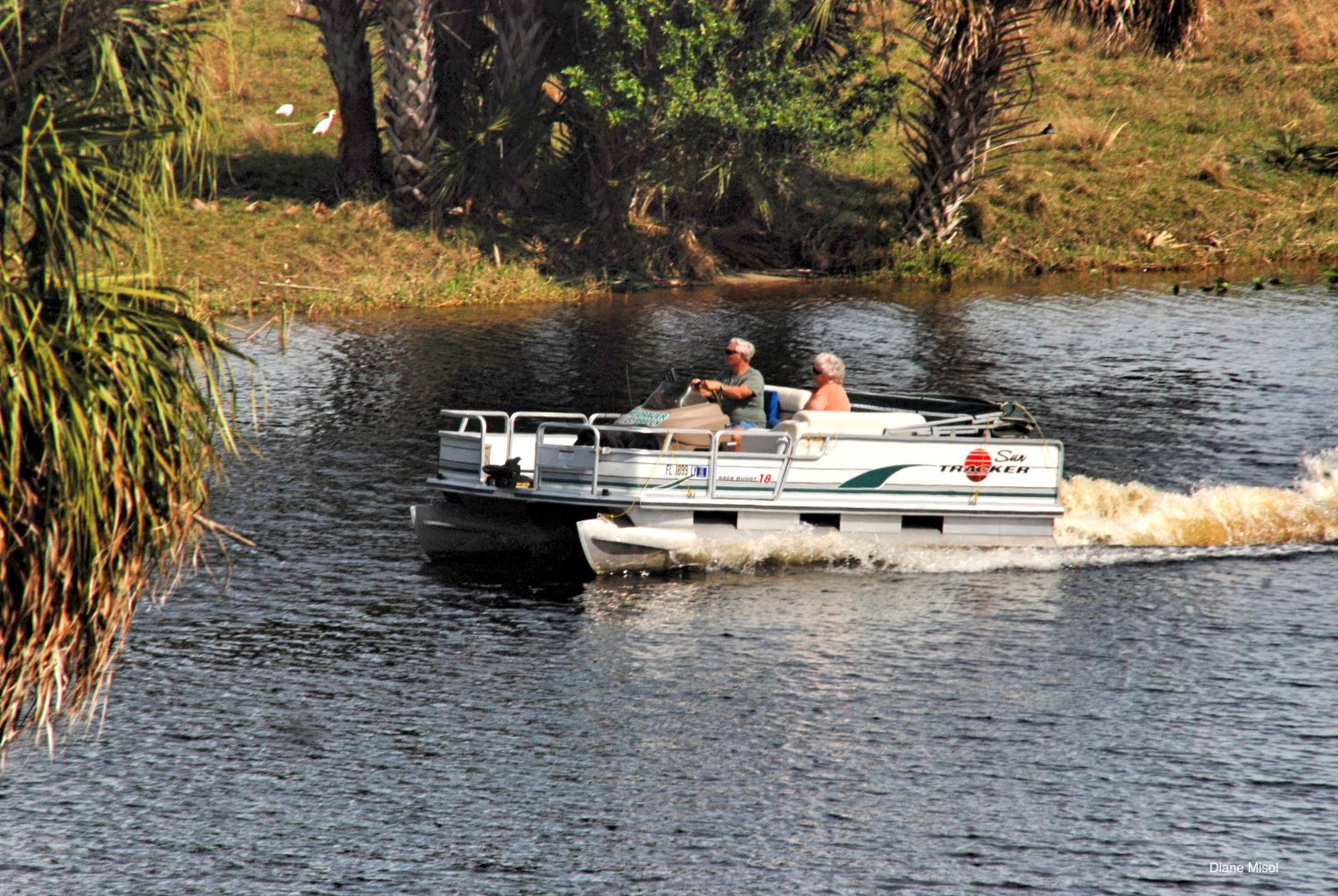 Pontoon Boating, Lake Okeechobee Canal