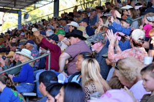 Audience clapping in appreciation at Rodeo
