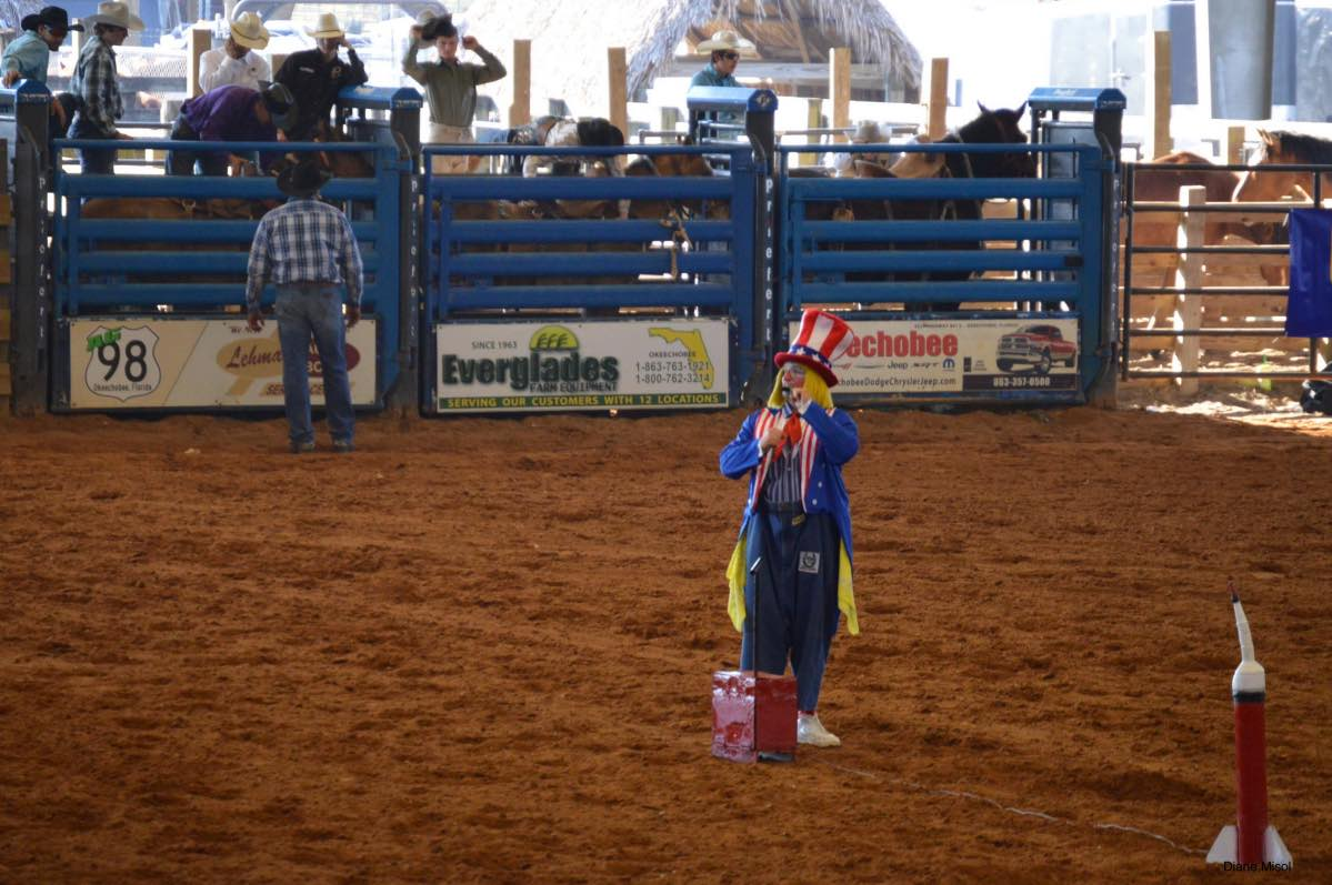 Clown Antics at Rodeo
