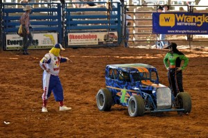 Rodeo Clown with race car
