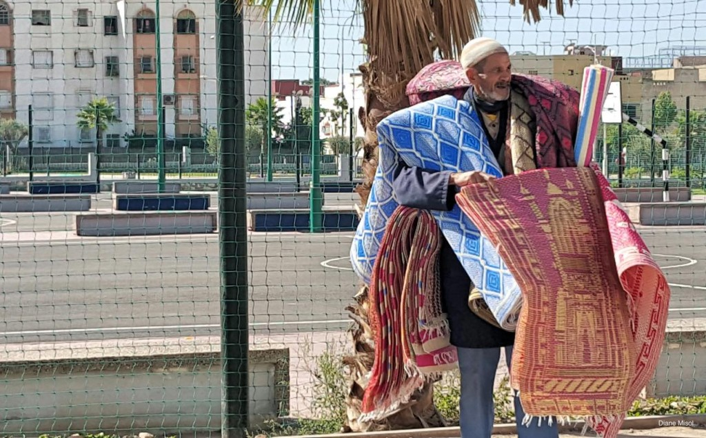Street Carpet Vendor, Agadir, Morocco