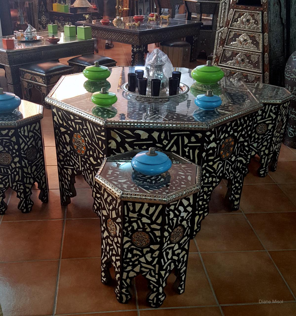 Unique Table Set in a Furniture Store, Agadir, Morocco
