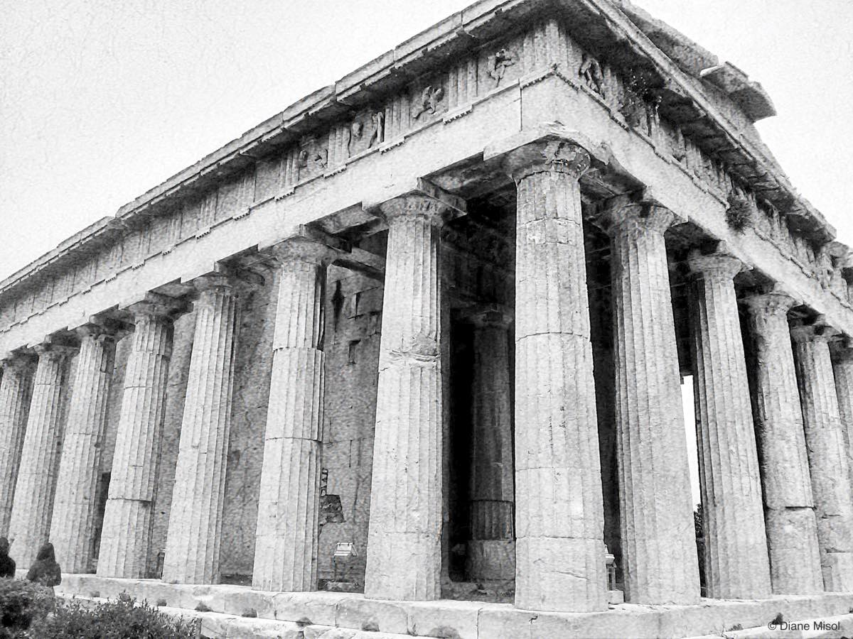 Agora Temple of Hephaestus, Up Close and Personal, Athens, Greece