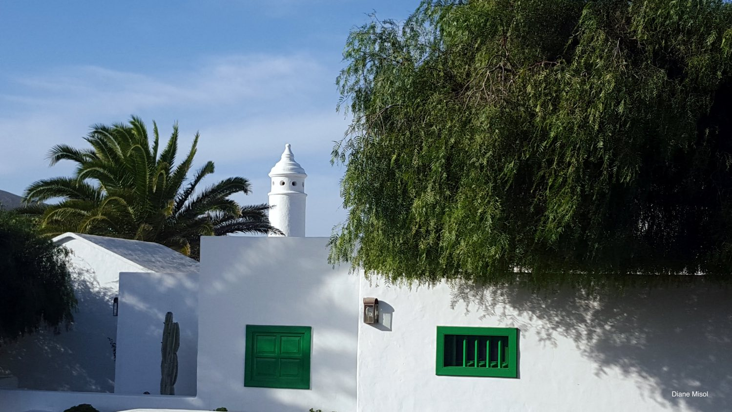 Building, White and Green, Lanzarote