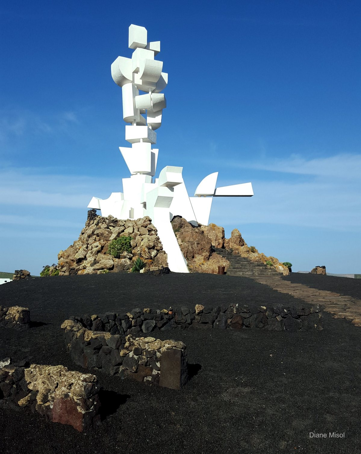 Art: The Peasant by César Manrique, Lanzarote Spain