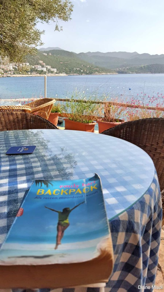 A book, a cafe and a million dollar view! Kas, Turkey