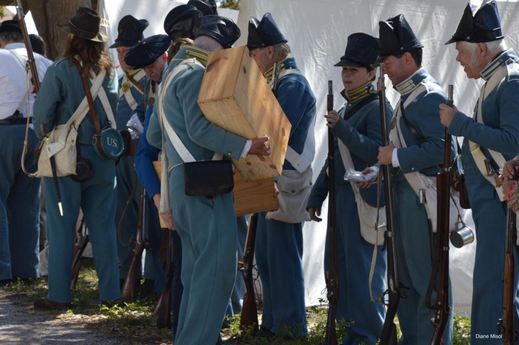 Battle of Okeechobee Reenactors, Preparation for Battle