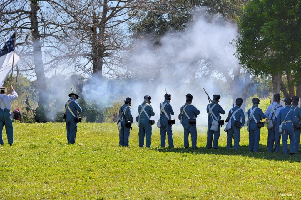 Battlefield Smoke, Battle Of Okeechobee, Second Seminole War