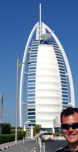 Entrance to the Burj Al Arab Hotel, Dubai