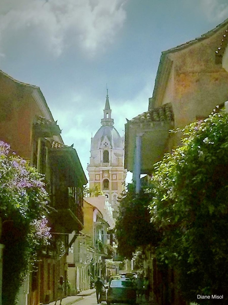 Cathedral Side Street, Cartagena, Colombia – TravelFoodDrink.com