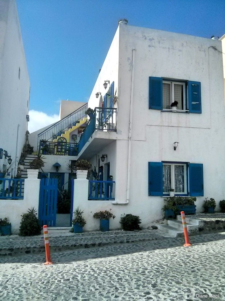 Classic Blue and White Building, Santorini, Greece
