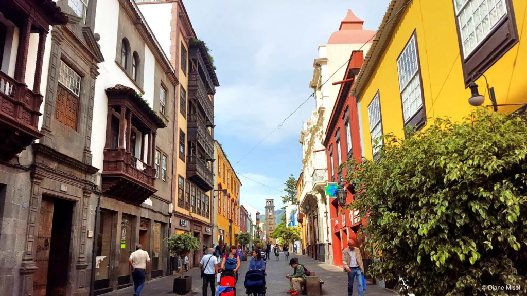 Colourful Pedestrian Street in Tenerife