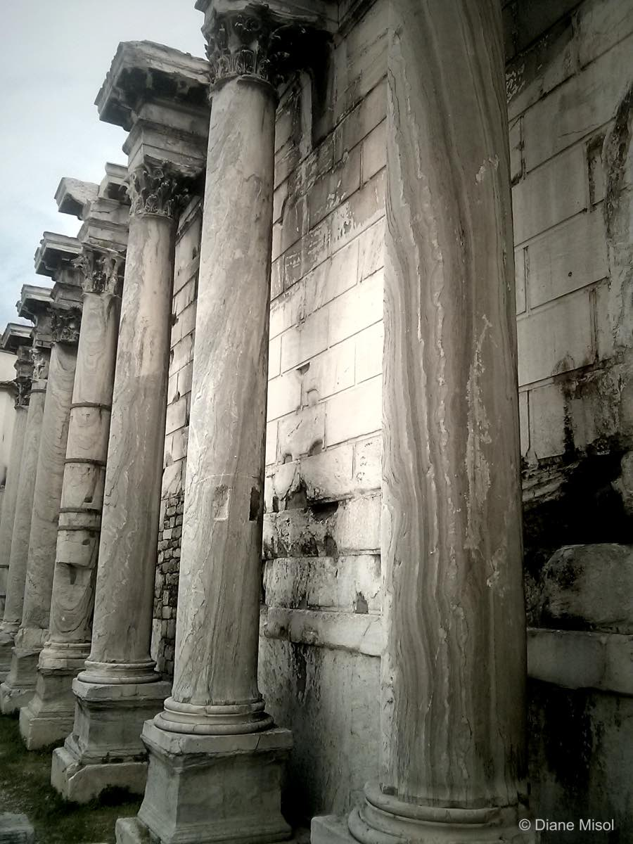 Columns of Hadrians Library, Athens, Greece