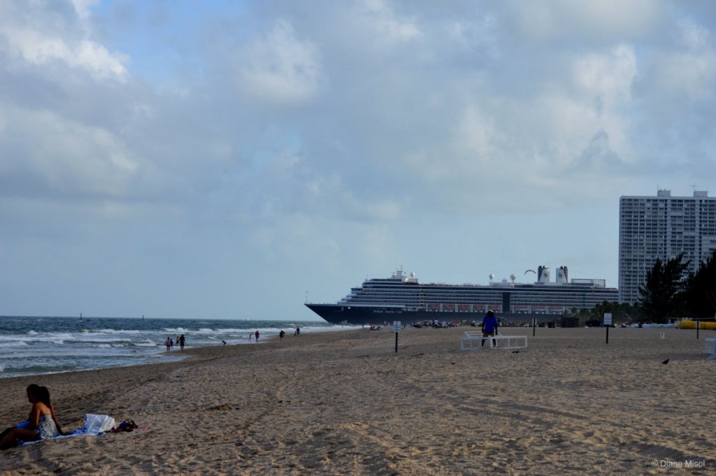 Cruise ship Holland America Sailing Away, Fort Lauderdale, Florida