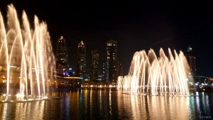 The Famous Dancing Fountains. Dubai UAE