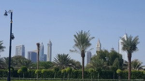 A view of the Dubai Skyline from the Palace