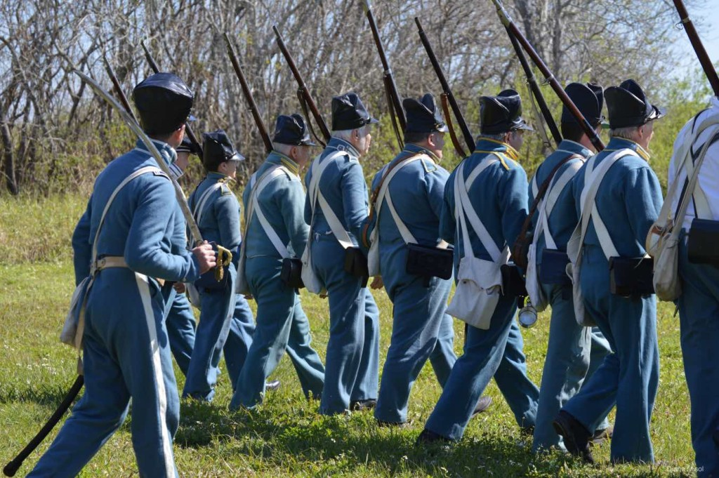 Enlisted Men, Battle Of Okeechobee, Reenactment