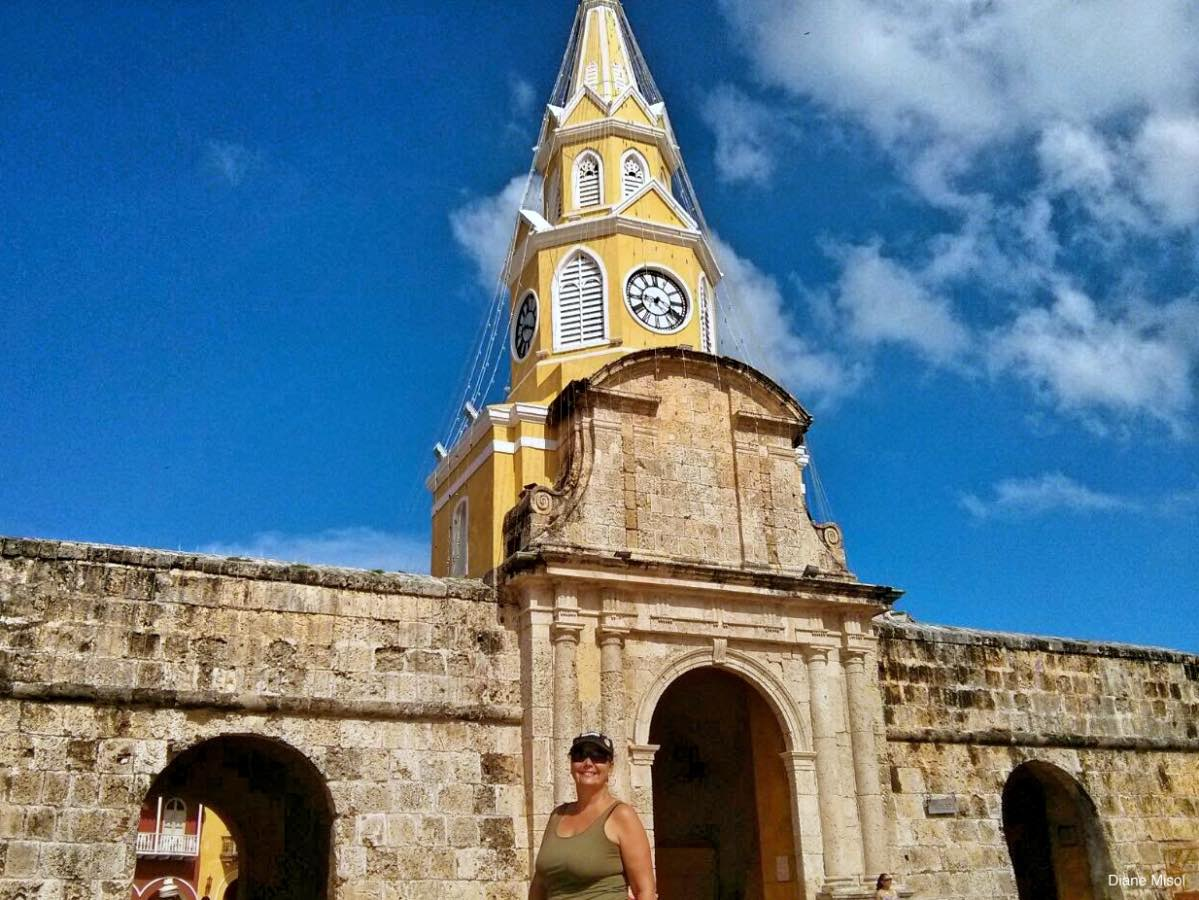 Clocktower Entrance, Old Town, Cartagena, Columbia