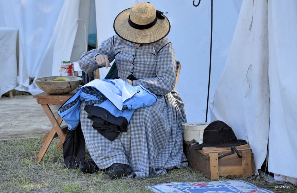 1830 Era Woman Sewing, Battle Of Okeechobee