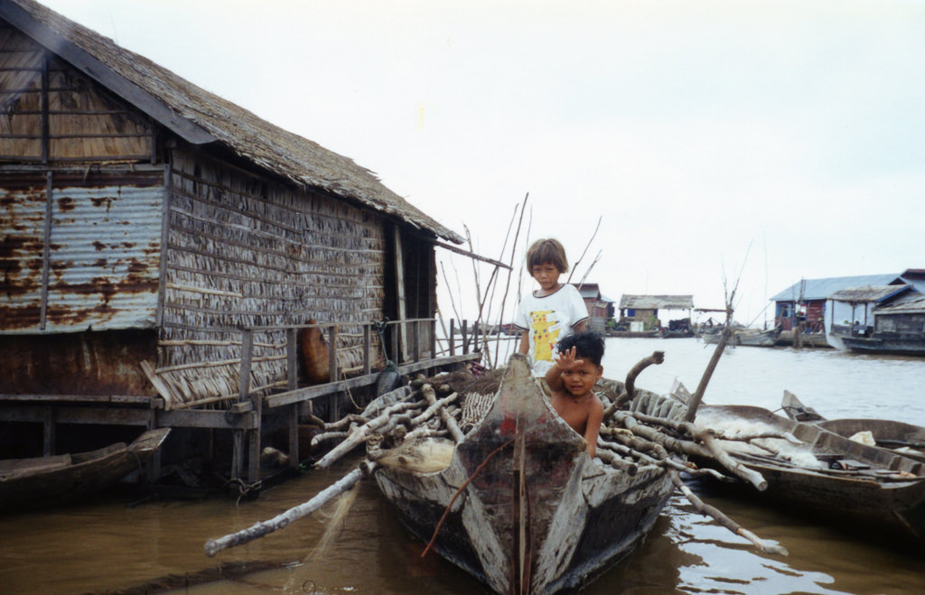 Fishing Village, Tonle Sap, Cambodia
