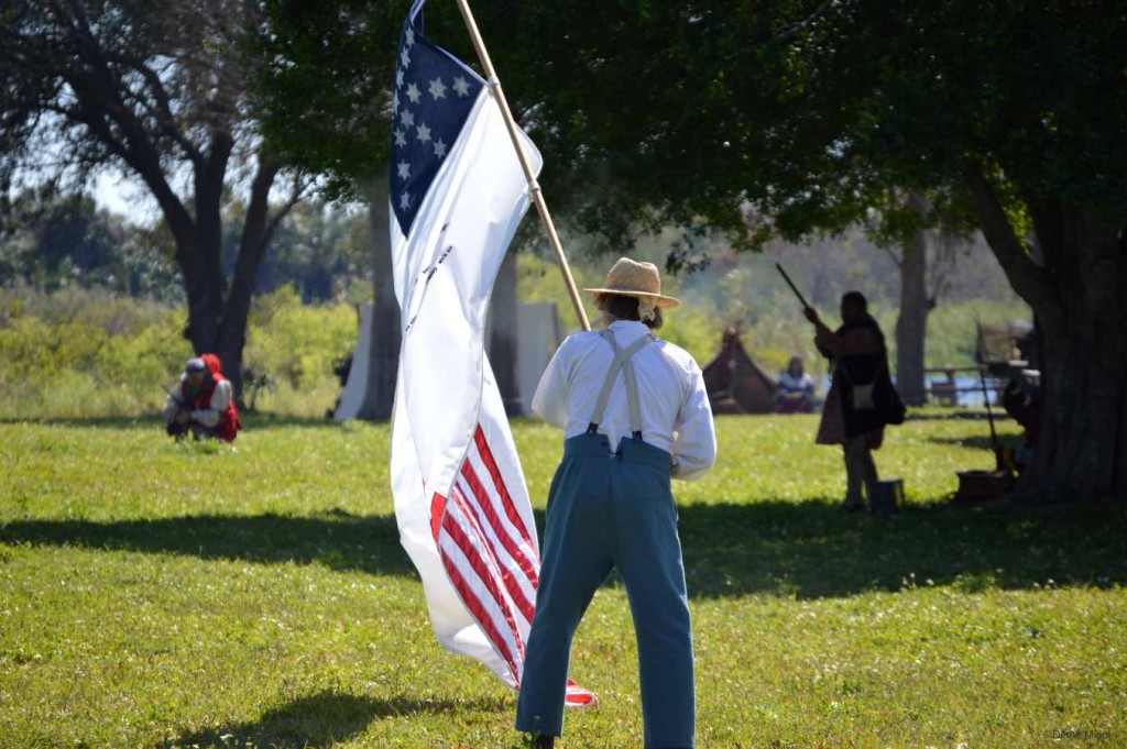 Flag, Advancing, Battle Of Okeechobee, Florida