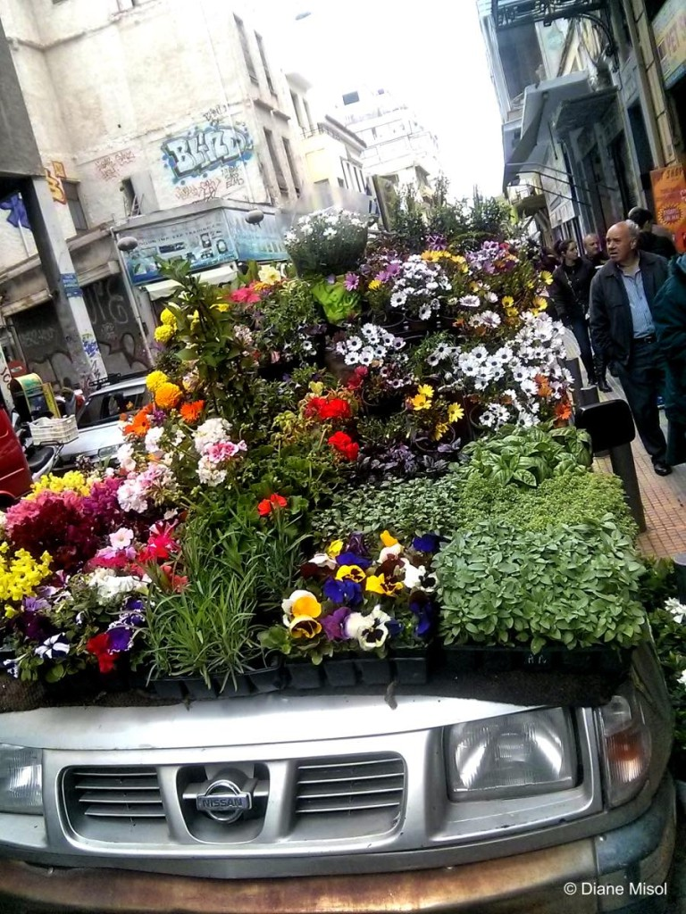 A Flower Car! Athens, Greece
