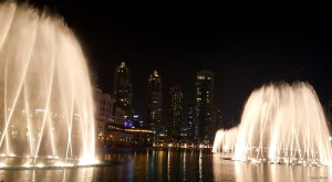 Dancing Fountains - so beautiful at Night, Dubai