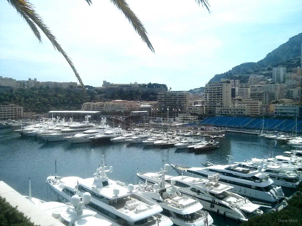 Harbour with Formula 1 Bleachers, Monte Carlo