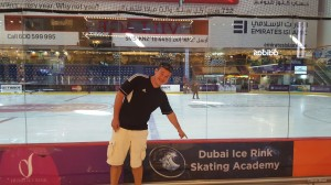 Full Size Ice Rink in The Dubai Mall