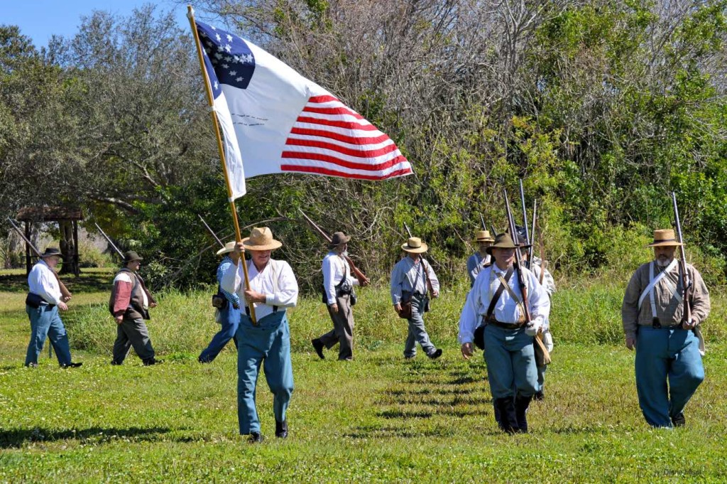 Marching Into Battle, Second Seminole War, Florida
