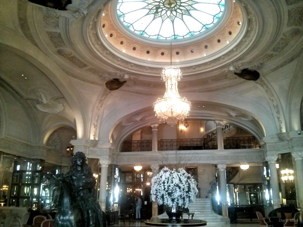 Lobby of the famous Hotel de Paris, Monte Carlo