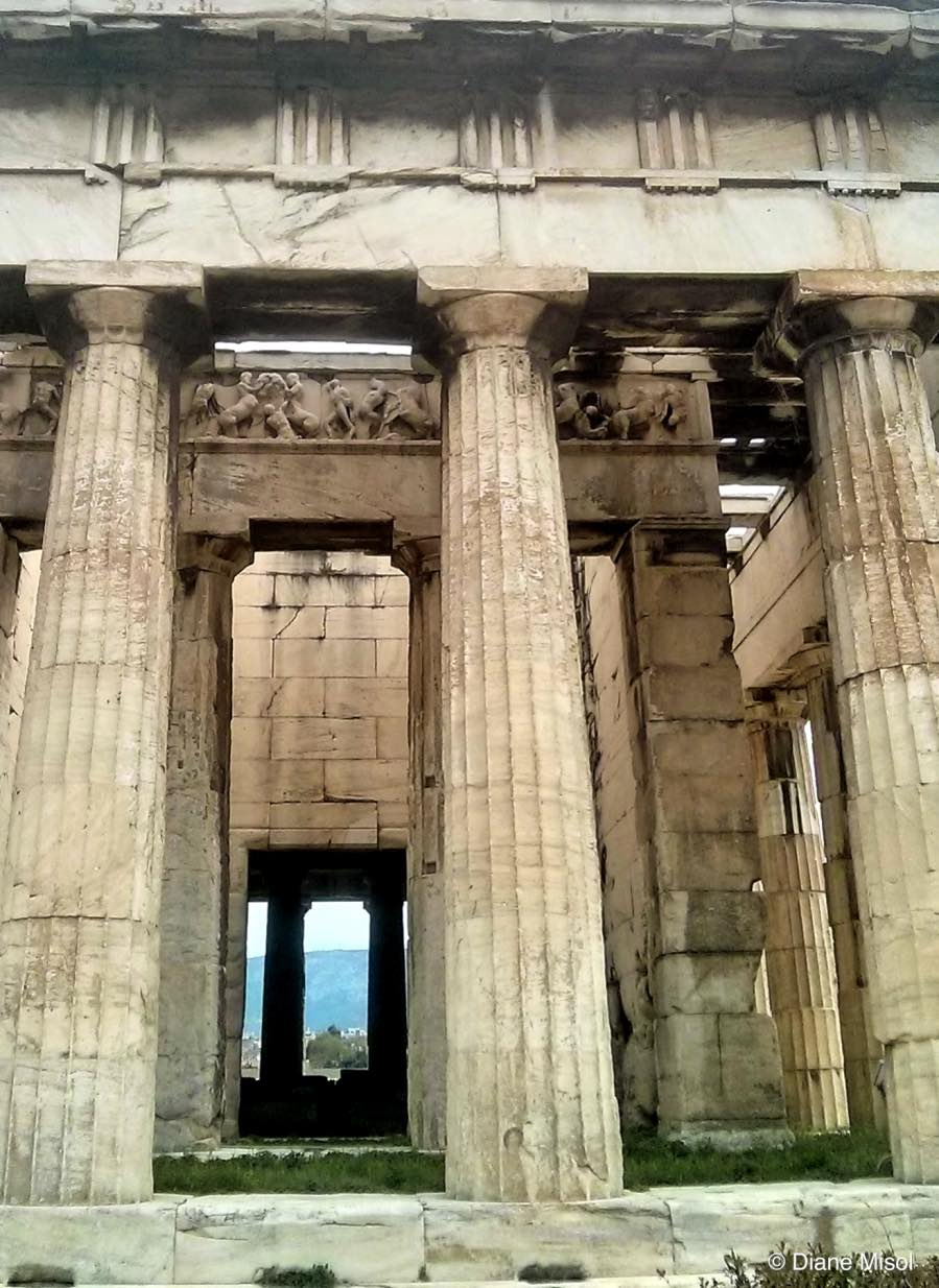 Looking Through Time, Agora Temple, Athens, Greece