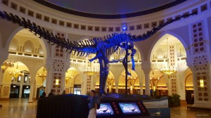 Dinosaur Display in The Dubai Mall