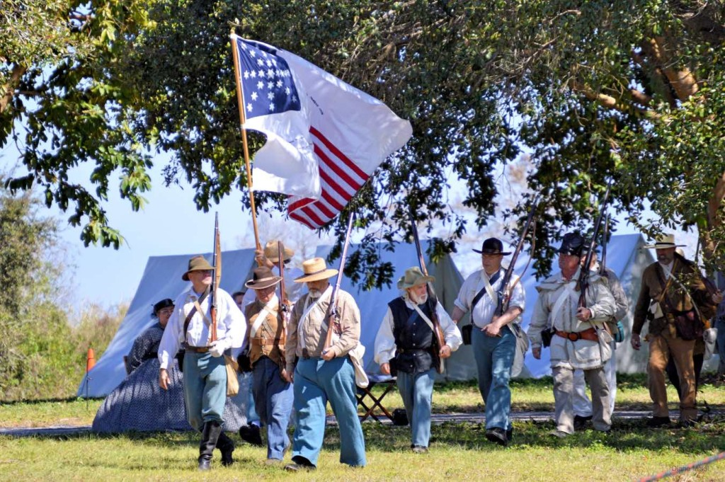 Volunteers March to war, Battle Of Okeechobee, Florida