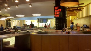 Sushi Restaurant with Conveyer Belt in The Dubai Mall