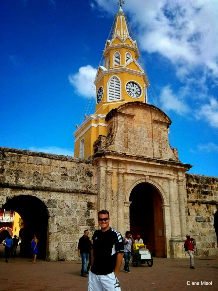 Old Town Fort Wall entrance, Cartagena, Colombia