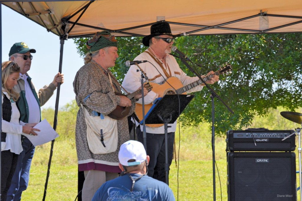 Singers Performing the song Seminole Wind at The Battle of Okeechobee