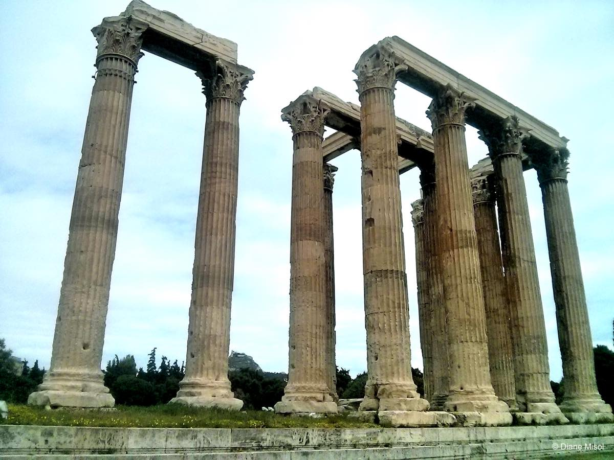 Pillars of the Temple of Zeus, Athens, Greece