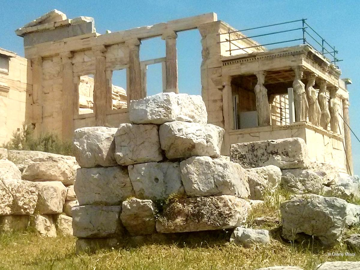 Porch of the Caryatids at the Erqchtheion, Acropolis, Athens, Greece