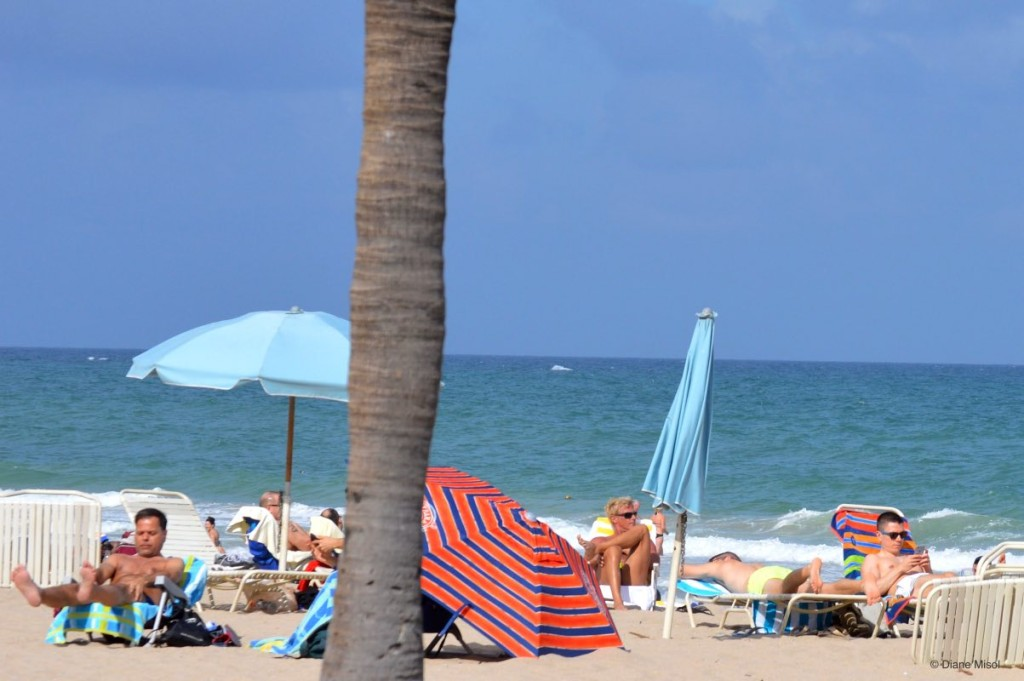 Relaxing at Fort Lauderdale Beach, Florida, USA