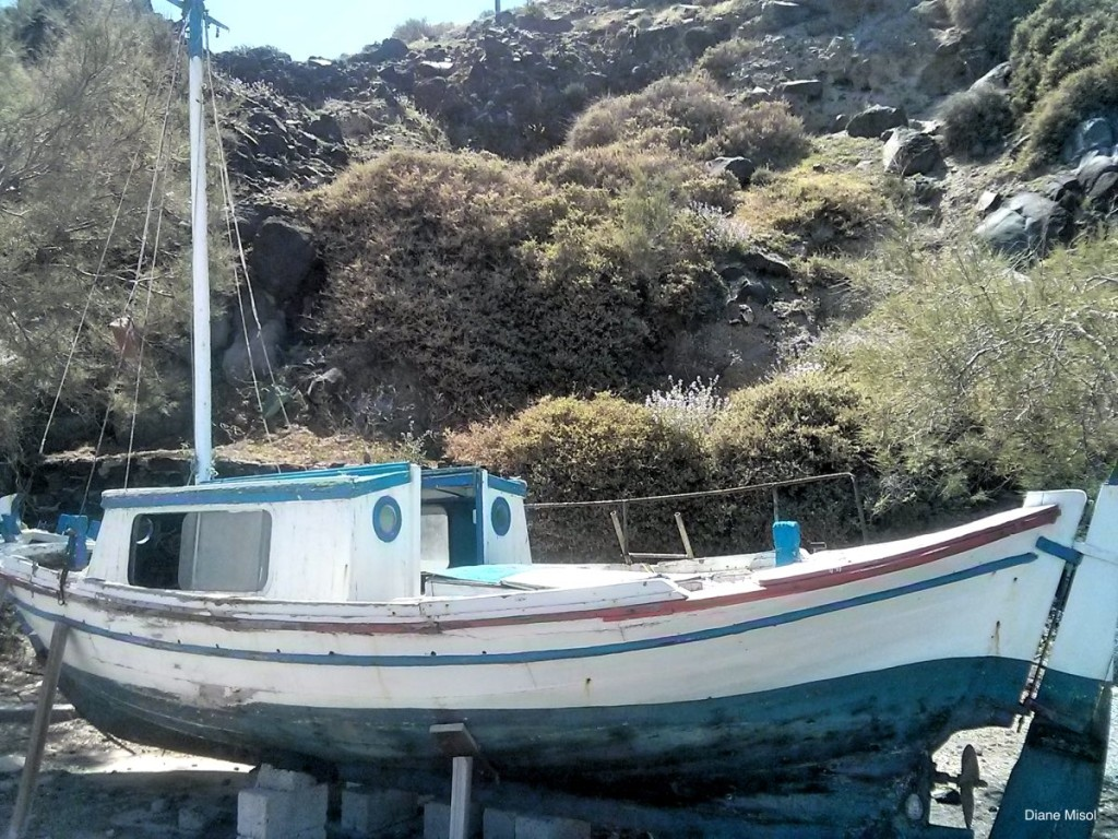 Forgotten Sailboat, Santorini, Greece