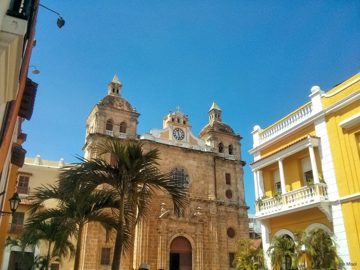 Beautiful Santo Domingo Cathedral, Cartagena, Colombia